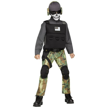 Sugar Skull Halloween Costume Male (Halloween Boy's Skull Soldier)