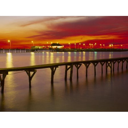 Sunset Over Mobile Bay, Fairhope, Al Print Wall Art By Jeff Greenberg ()