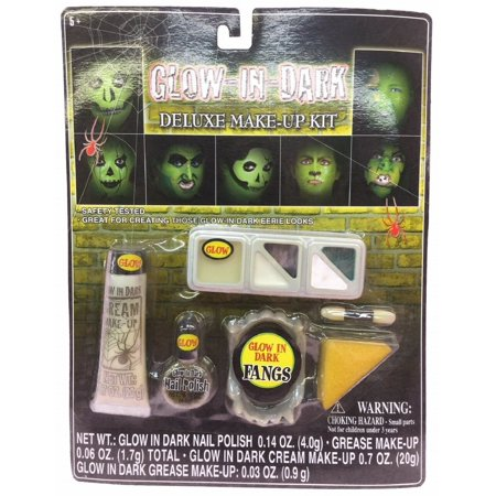 Glow In The Dark Deluxe Halloween Make Up Kit](Halloween Make Up Dm)