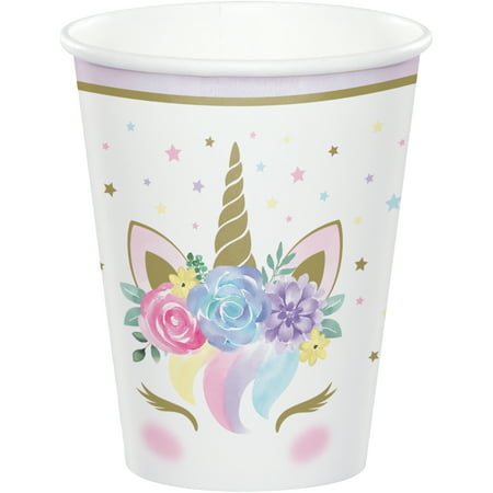 Unicorn Baby Shower Paper Cups, 24 Count