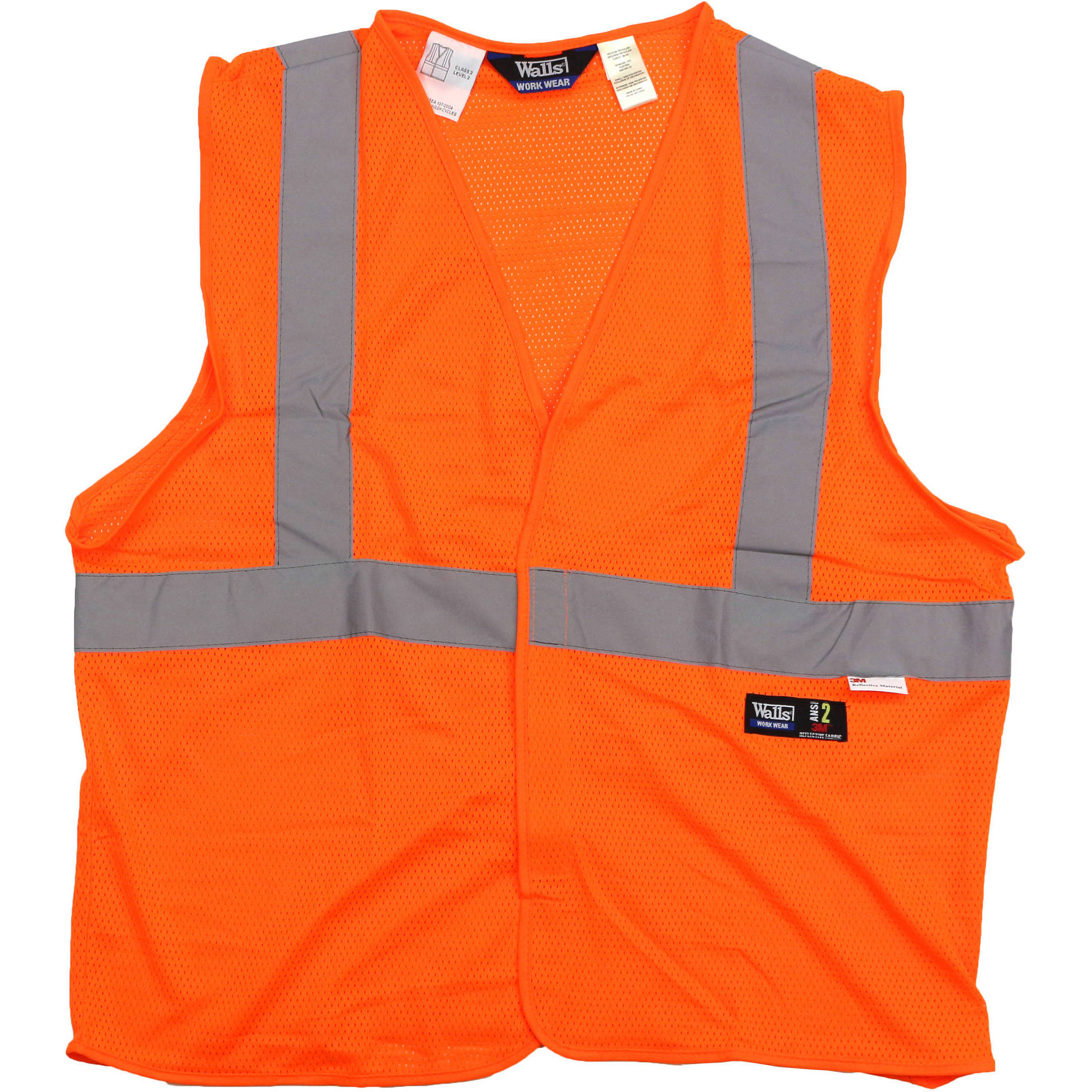 Walls - Big Men's ANSI 2 High Visibility Mesh Safety Vest