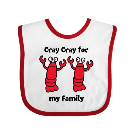 Lobster Cray Cray for my Family Baby Bib White/Red One Size](Lobster Bibs)