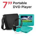"""Ematic 7"""" Portable DVD Player with Matching Headphones and Bag"""