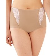 Bali One Smooth U Simply Smooth Brief 7 Nude/Porcelain Lace