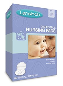 Lansinoh 20265 Disposable Nursing Pads, 60-Count Boxes (Pack of 4) by Lansinoh