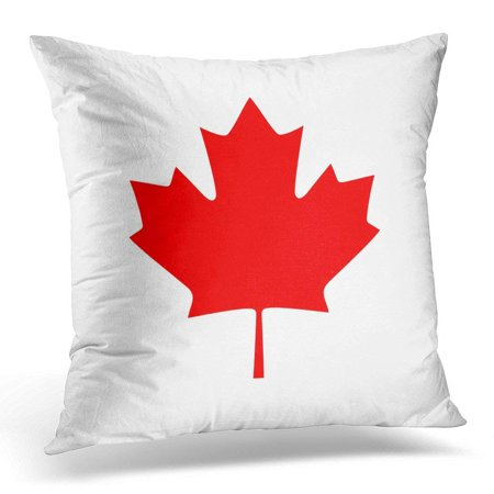 CMFUN Red America Canada Maple Leaf Button Pillows case 18x18 Inches Home Decor Sofa Cushion Cover - Maple Leaf Button