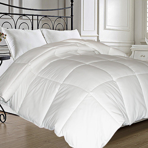 Microfiber Feather and Down Comforter
