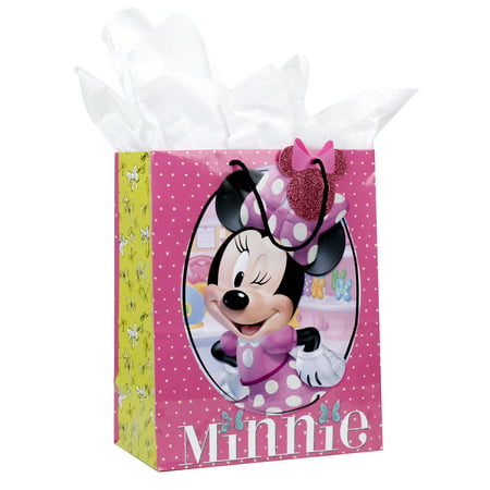 Hallmark, Minnie Mouse, Large Gift Bag with Tissue Paper - Large Paper Bags