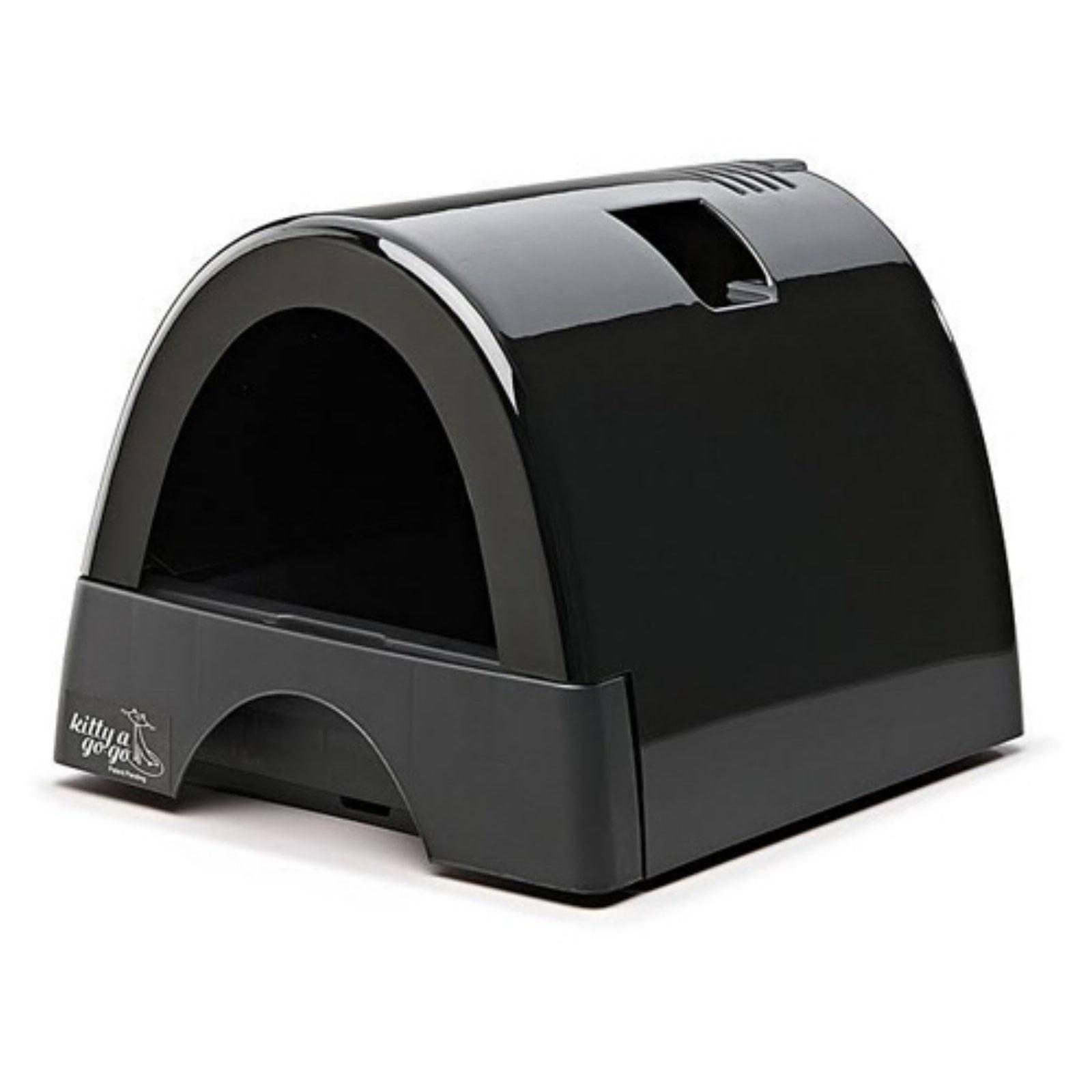 Kitty A Go Go Designer Cat Litter Box - Glossy Black