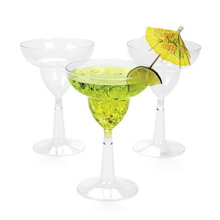 Generic Margarita 10oz. Plastic Glasses (20 Count) - Margarita Glasses In Bulk