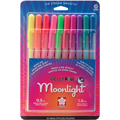 Sakura of America Moonlight Gelly Roll Assorted Pen (Set of 10)