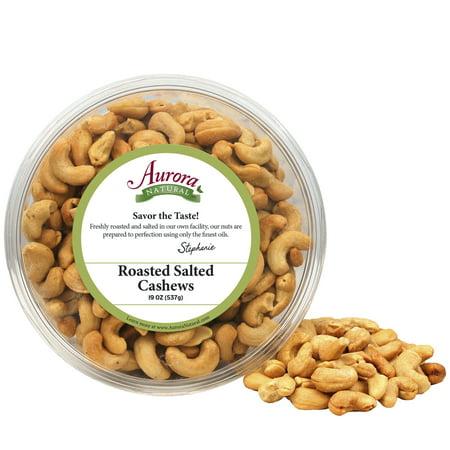 Aurora Salt - Aurora Natural Roasted Whole Cashews, Salted, 15 Oz (Family Tub)
