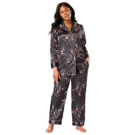 Plus Size The Luxe Satin Pajama Set By Amoureuse (Satin Lined Pajamas)