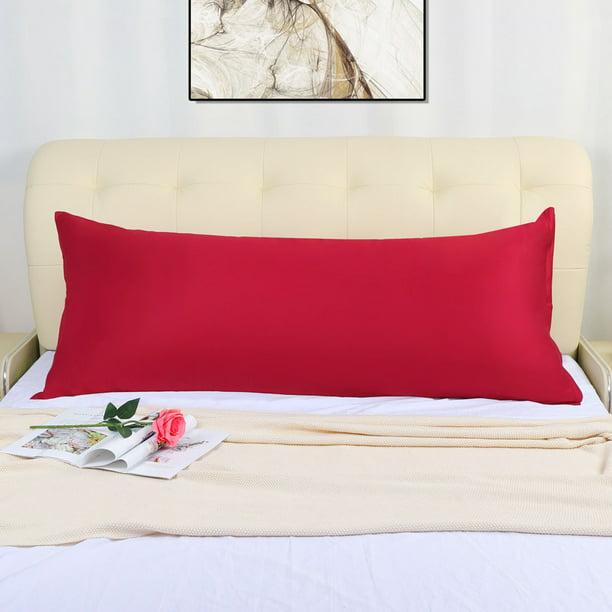 body pillow cover long bolster pillowcase covers w zipper red 20 x60