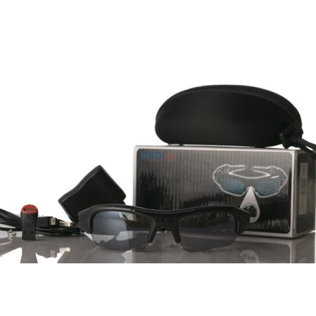 Polarized Sport Sunglasses w/ Built-in Video Camera and (Sunglasses With Video Camera)