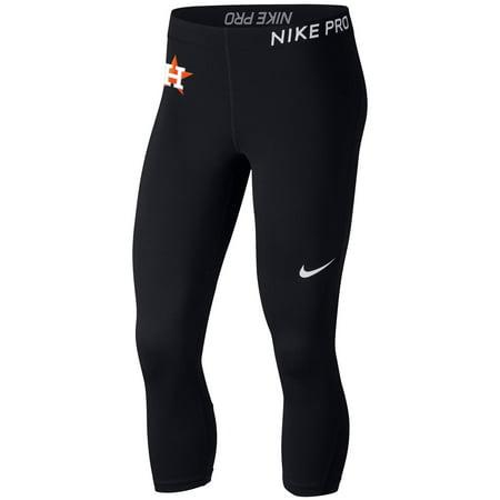 Houston Astros Nike Women's Pro Cool Capri Leggings - Black