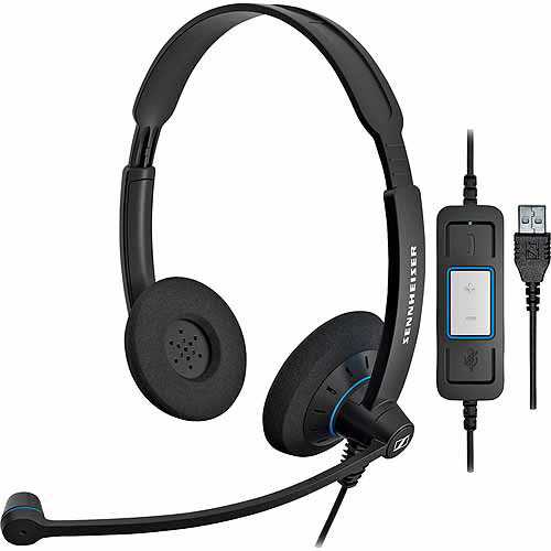 Sennheiser Dual-Sided SC 60 USB CTRL Headset with Noise-Canceling Microphone