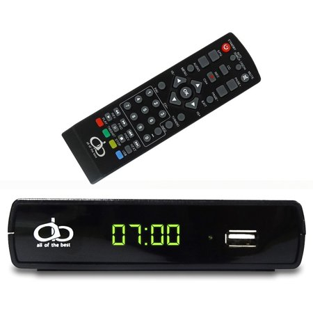 All of the Best (AOB) Digital TV Converter Box A19-106 Supports Full HD/USB With Remote Control and Recording Functionality, RCA Outputs/HD Out - (Black) -