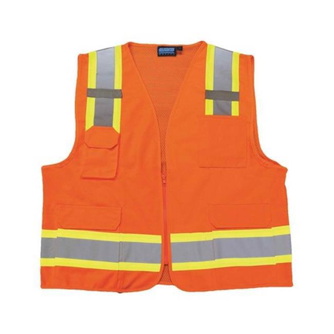 US380 Extra Large Hi-Visibility Tampa Mesh Vest, Orange - Regular