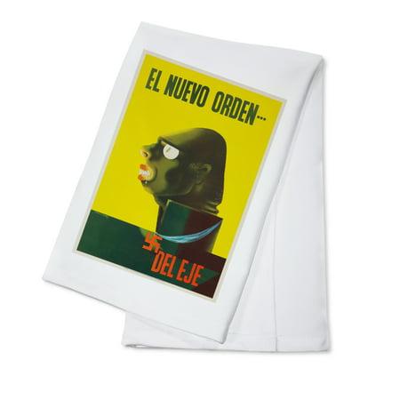 El Nuevo Orden Vintage Poster  Artist  Kauffer  Usa C  1942  100  Cotton Kitchen Towel
