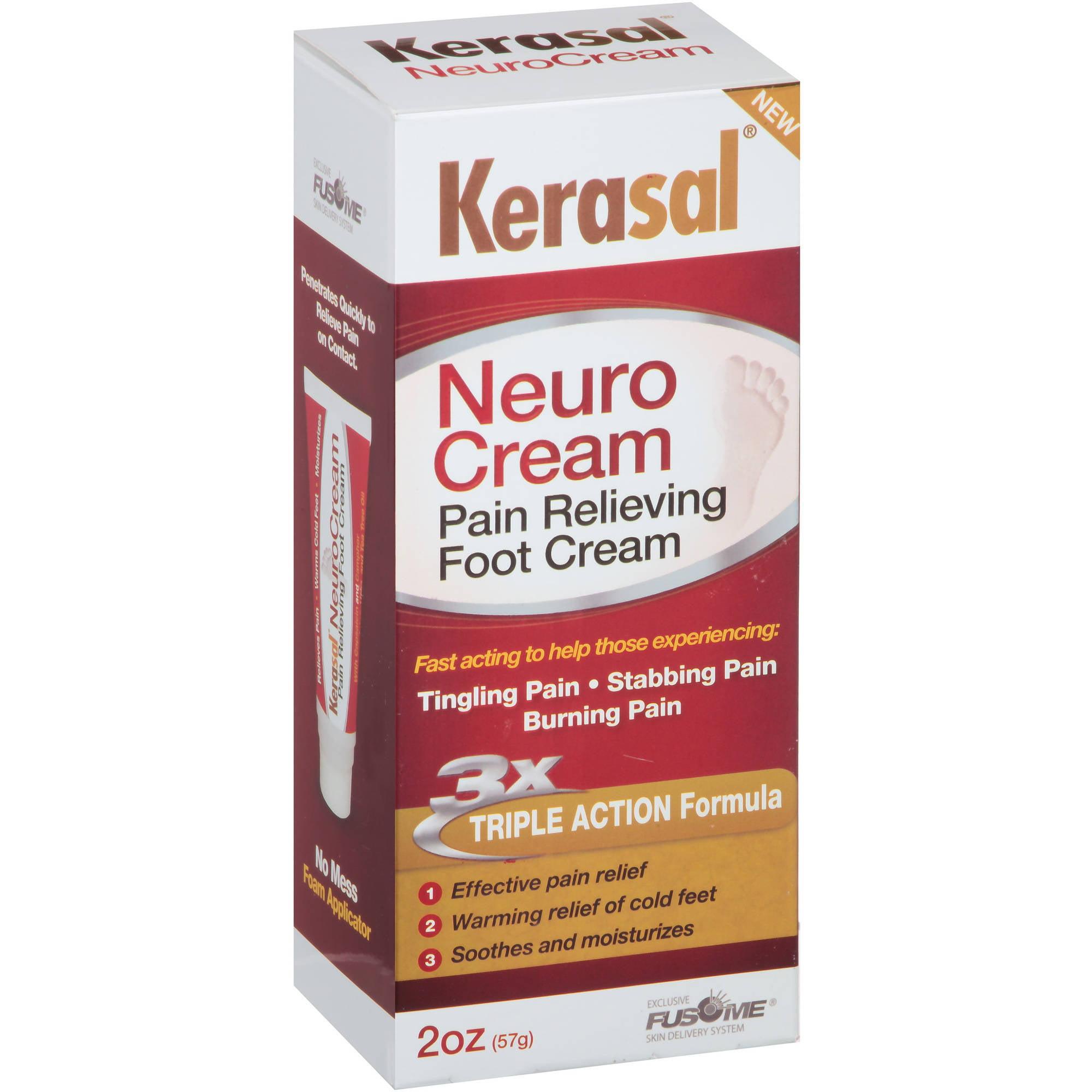 Kerasal Neuro Cream Pain Relieving Foot Cream, 2 oz - Walmart.com