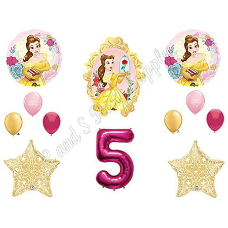 BEAUTY AND THE BEAST 5th Birthday Party Balloons Decoration Supplies Movie - Beauty And The Beast Birthday Party Decorations