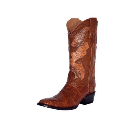 953c541746b Ferrini Western Boots Mens Genuine Alligator Belly Cognac 10741-02