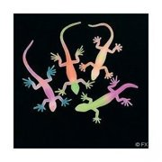 G-I-D Neon Painted Lizards - Party Favors - 12 Pieces