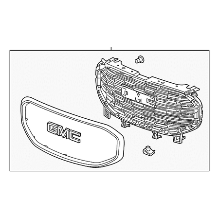 Genuine OE GM Grille Assembly 84236083
