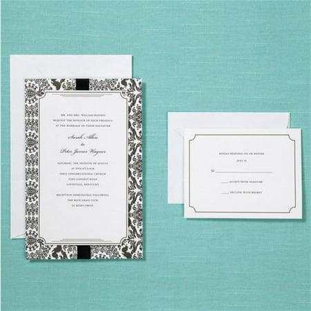 Brides black damask wedding invitation kit walmart brides black damask wedding invitation kit filmwisefo