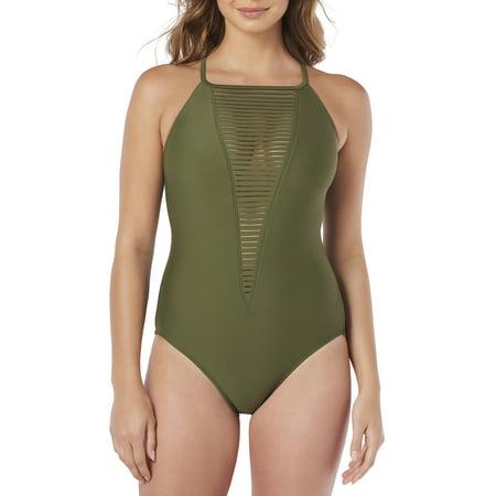 Lycra Strappy 4 Piece - Women's Strappy One-Piece Swimsuit