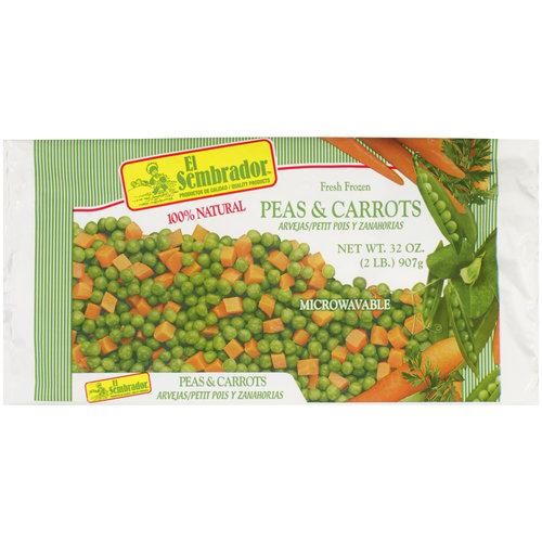 El Sembrador Fresh Frozen Peas & Carrots, 32 oz