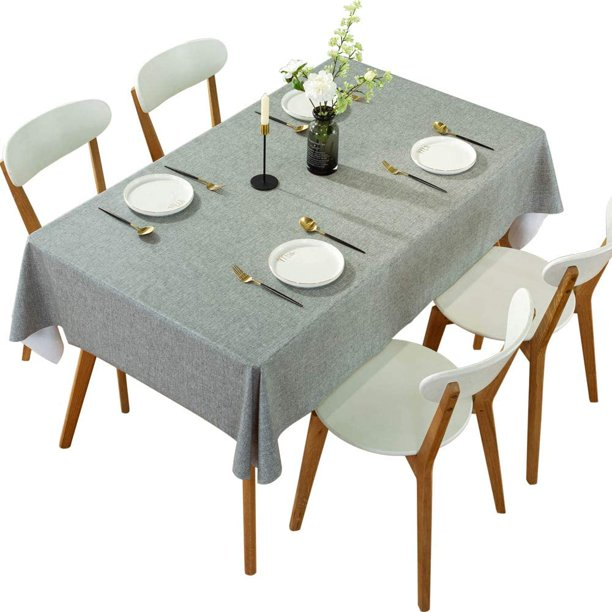 Daruite Rectangle Vinyl Oilcloth, What Size Tablecloth For A 72 Table