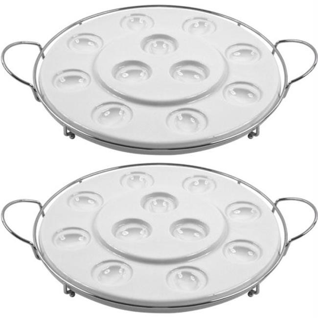 82-62741-2 Set of 2 Godinger  Two Tier Multi Purpose Serving Tray