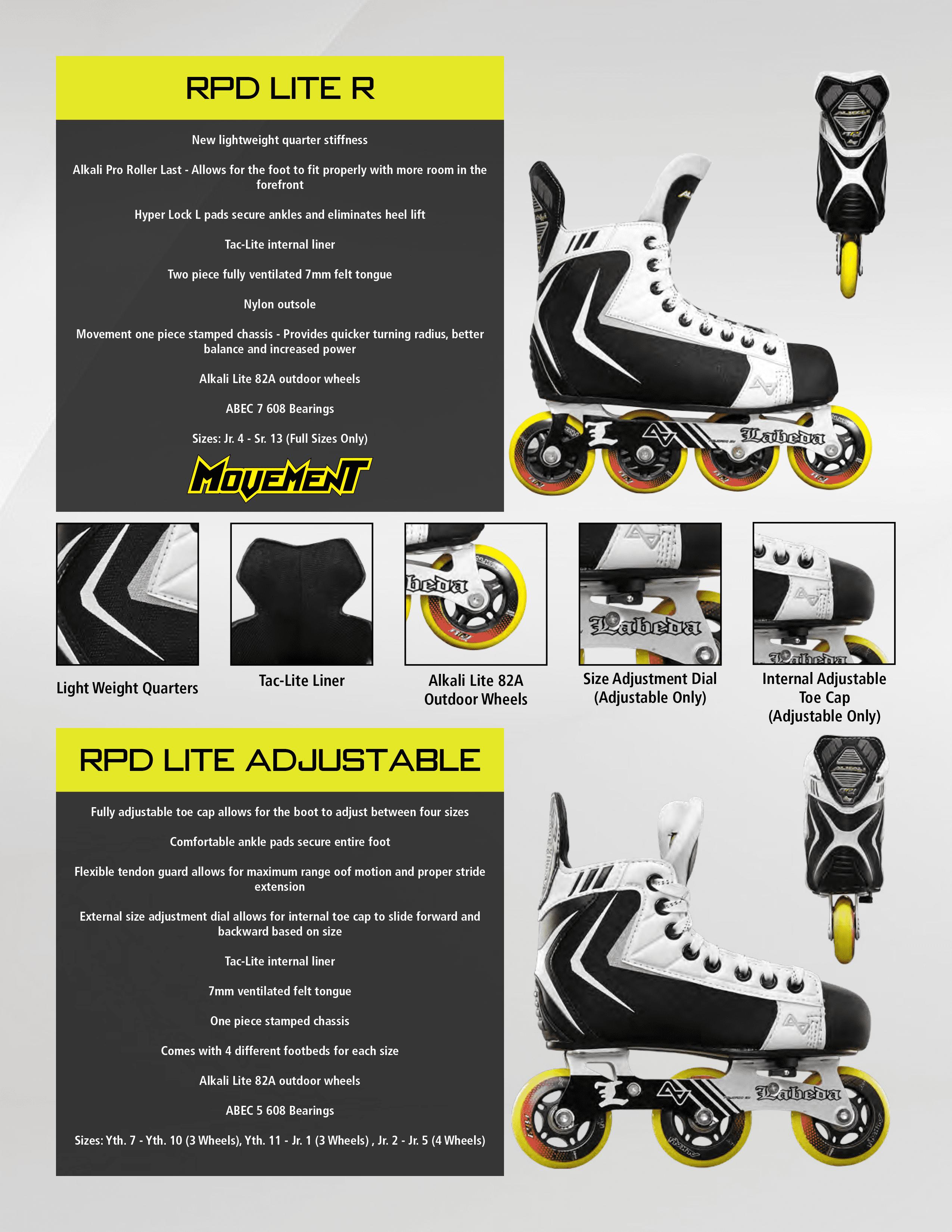 7b0dee52210 Alkali RPD Lite R Roller Hockey Skates (Senior) - Walmart.com