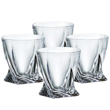 Denizli Spirits Old-Fashioned 'Diamond' 10 Oz Whisky Glasses, Set of 4 ()