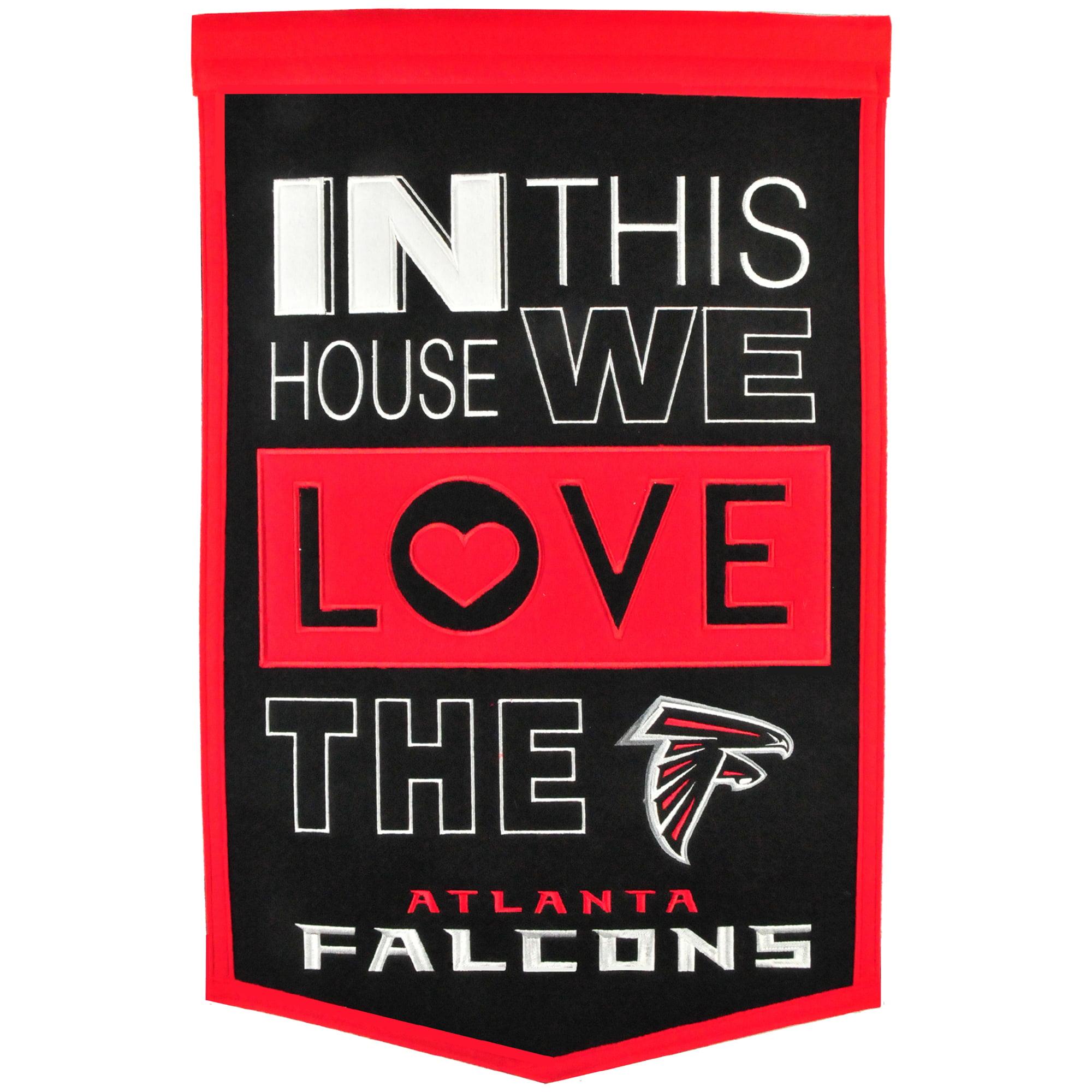 Atlanta Falcons 15'' x 24'' Home Banner - No Size