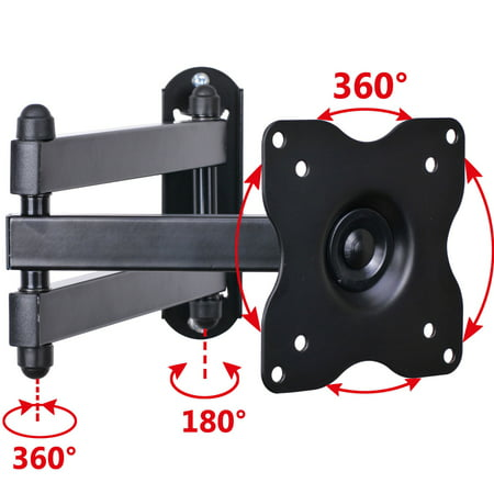 "VideoSecu Tilt Swivel TV Wall Mount Swing Arm 15 19 22 23 24 26 27 28 29"" LCD LED Monitor Bracket Flat Panel Screen C1B"