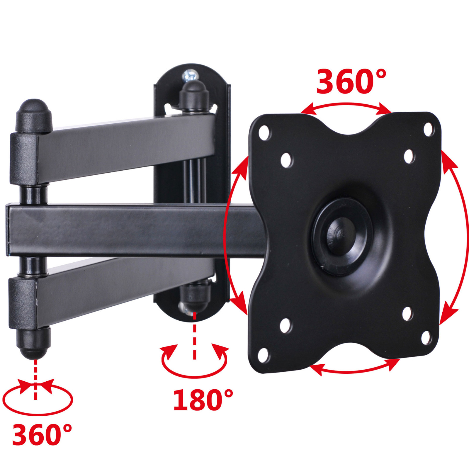 "VideoSecu Articulating Full Motion Tilt Swivel TV Wall Mount for Samsung 19 22 24 26 28 29"" LCD LED Computer Monitor C1B"