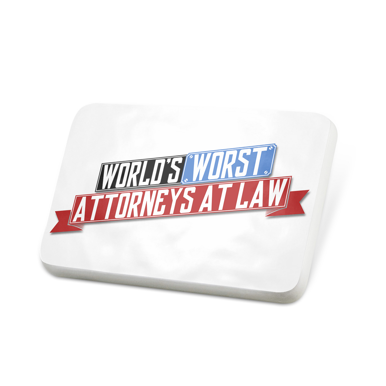Porcelein Pin Funny Worlds worst Attorneys At Law Lapel Badge – NEONBLOND