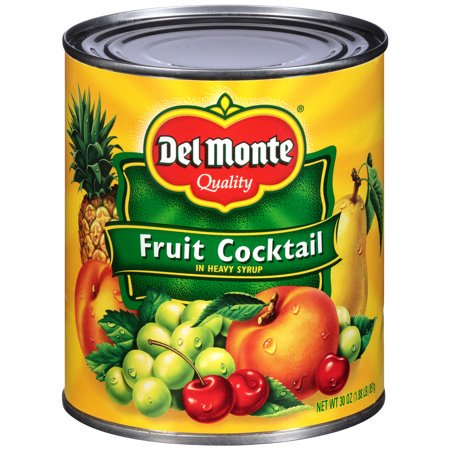 (3 Pack) Del Monte Fruit Cocktail in Heavy Syrup, 30 oz (Del Monte Glas)