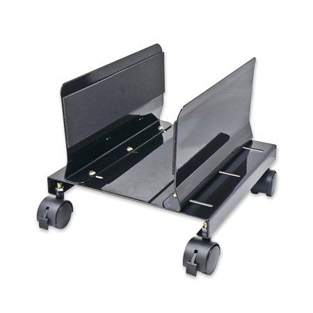 Steel PC Stand for ATX Case with Adj. Width and 4 Caster