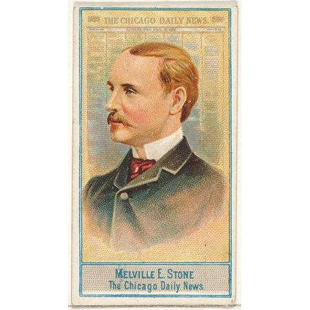 Melville E Stone The Chicago Daily News From The American Editors Series  N1  For Allen   Ginter Cigarettes Brands Poster Print  18 X 24