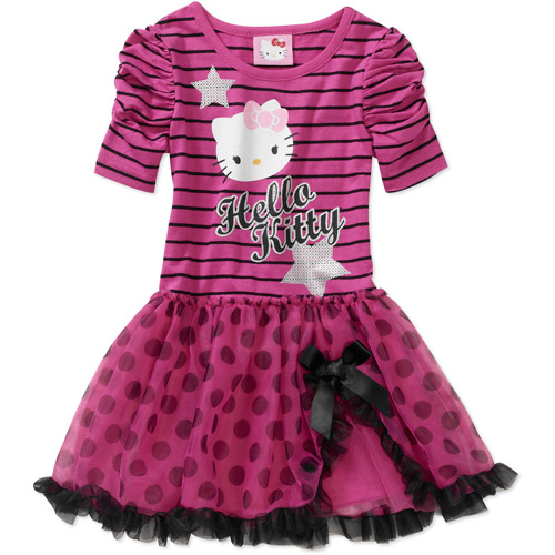 Hello Kitty Baby Girls' Striped Bow Dress