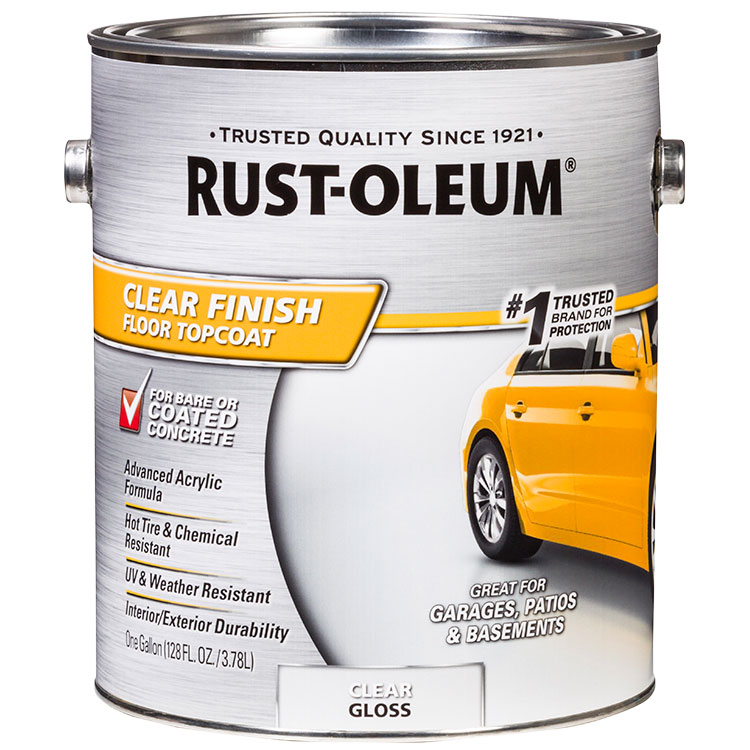 Rust-Oleum 320202 Concrete and Garage Floor Paint Topcoat clear finish gal