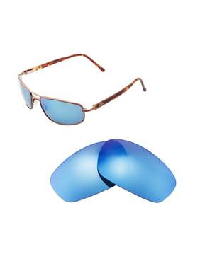 8f41961398 Product Image Walleva Ice Blue Polarized Replacement Lenses for Maui Jim  Kahuna Sunglasses