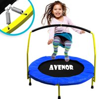 Toddler 36 Heavy Duty Round Mini Trampoline with Handlebar