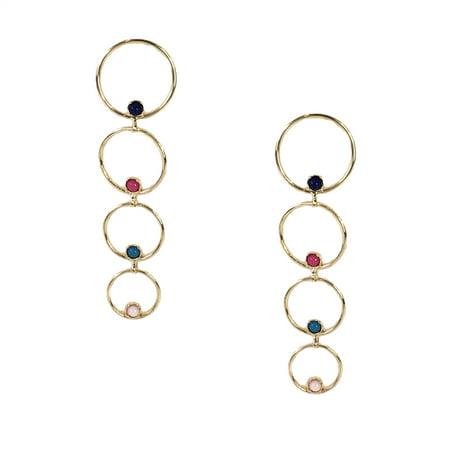 17e9274694e3 Jewelry Collection - Nubia Linear Stone Circle Drop Earrings