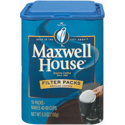Maxwell House Instant Coffee Filter Packs, 10 Ct/5.3 oz