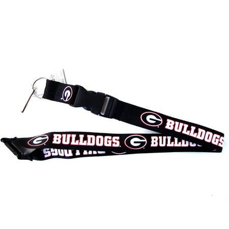 Ncaa Teams Lanyard (NCAA Georgia Bulldogs Clip Lanyard Keychain Id Ticket Holder)